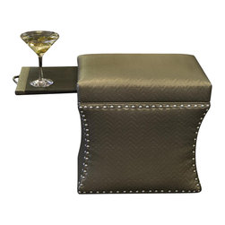 COUEF - Loo Classic Storage Ottoman - The Loo Classic Storage Ottoman is clean and polished. It is accented with small pewter nail heads for an added touch of class. This grouping is ideal for a bathroom, dressing area or any fresh, simple space. It can be utilized as a stool, ottoman, end table, foot rest, coffee table and so much more. The possibilities are endless. COUEF's signature pullout shelf and storage are constructed with quality solid wood.