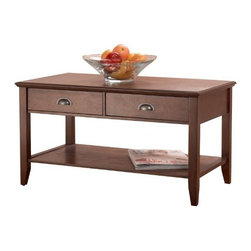 Foremost - Sheridan Coffee Table, Walnut - This Foremost coffee table is made of hardwood with wood veneer in warm walnut finish.