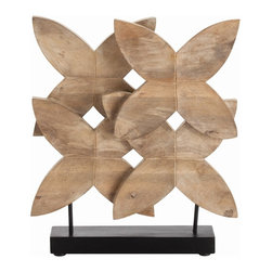 Arteriors - Ella Sculpture - Wild flowers. These blooms are actually crafted of deeply resonate and beautifully hand-carved wood to create a sculpture that is at once natural and modern. Wherever you plant it, admiring glances are sure to follow.