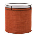 Howard Elliott - Coco Coral No Tip Cylinder Ottoman - The No-Tip Cylinder is constructed with a dense light-weight foam and then topped off by a soft, high quality foam making it sturdy yet comfortable. Its unique design allows weight to be distributed evenly keeping it from tipping like most foam ottomans.