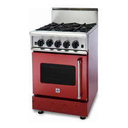 "BlueStar 24"" RNB Range with 4 Top Burners - Nova, Ultranova, and Simmer Burners that allows a gentle 130 F option to a burner that can deliver 22,000 BTUs."