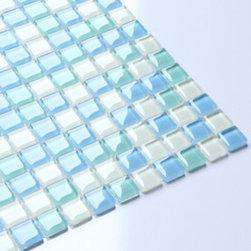 2013 New glass stone metal blend mosaic tile for kitchen backsplash COB0051 - Collection: Crystal glass tile