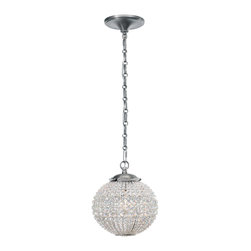 Crystorama - Crystorama 6753-AP Newbury 1 Light Mini Chandeliers in Antique Pewter - You''ll see a variety of influences reflected in the Newbury collection, notably from jewelry. Crystal spheres are very glamorous and old Hollywood. But we''ve made some changes to the traditional design. The most dramatic is our use of round faceted hand cut crystal beads. It reads as more contemporary, perfect for today''s interiors.