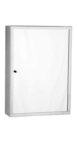 """Renovators Supply - Medicine Cabinets Bright Stainless Mirror Cabinet 18 1/8"""""""" H   13516 - Bathroom Medicine Cabinet. Maximize storage in style, this exquisite medicine cabinet is 100% stainless steel inside and out. The perfect investment for any bathroom. Overall Measurements: 18 1/8 inch H x 13 inch W x 4 1/4 inch projection."""