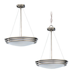 Sea Gull Lighting - Sea Gull Lighting 69152BLE-962 Nexus Brushed Nickel 2 Light Pendant - Nexus Pendant Two-Light Brushed Nickel Finis