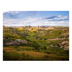"""Badlands Spotlight - Rugged Landscape Fine-art Photograph, 24"""" X 18"""" - The North Dakota Badlands are one of the most rugged and unforgiving landscapes in world.  """"It was here that the romance of my life began,"""" Teddy Roosevelt wrote.  He later admitted that """"I would not have been President had it not been for my experience in North Dakota."""""""