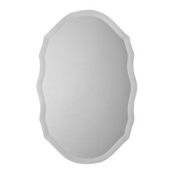 Ren-Wil - Ren-Wil MT1171 Portrait Ashfield Mirror in All Glass - This uniquely shaped beveled mirror adds the perfect finishing touch to any room.