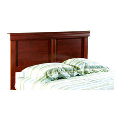 South Shore - South Shore Vintage Full / Queen Headboard in Cherry Finish - South Shore - Headboards - 3168277 - Stately in appearance with a warm cherry finish and engineered hardwood panel construction that features beveled edges and decorative moldings the Vintage headboard is appropriately named. It will be a well-appointed fixture in the traditional decor of your bedroom.