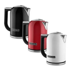 Kitchenaid - KitchenAid 8-Cup Electric Kettles - These handsome electric kettles from KitchenAid bring modern design and welcome innovation into your kitchen. Convenient features include variable temperature settings (adjustable from 122º to 212º F) and a handle top digital temperature display.
