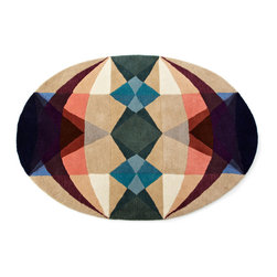 Some Things Strange - MEDIUM 3.6' X 5' - Geometric patterns keep this area rug looking modern and fresh, while hand-tufted wool and cotton make it soft to the touch. It's a great, modern accent piece that's just as at home on your front door step as it is in the kitchen. Use the contemporary color palette to play up other great accents wherever this is placed.