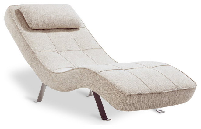 Modern Day Beds And Chaises Long Island Beige-Grey Lounger