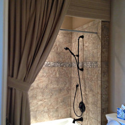 Drapery - Shower curtain furnished and installed by Kite's Interiors
