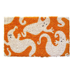 Entryways - Ghosts Hand Woven Coconut Fiber Doormat - Designed by an artist, this distinctive mat is a work of art that will add a welcoming touch to any home. It is from Entryways' handmade collection and meets the industry's highest standards. This decorative mat is handsomely hand woven and hand stenciled.