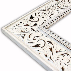 The Frame Guys - Victorian White Picture Frame-Solid Wood, 10x10 - *Victorian White Picture Frame-Solid Wood, 10x10