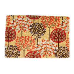 Harvest Tree Doormat - A cute tree design in autumn shades makes this a great doormat for fall.