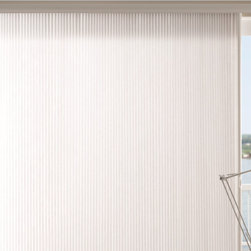 Bali Verticell Shades from Blinds.com - Bali VertiCell Shades bring the style and energy efficiency of Cellular Shades with a convenient side-opening design made for glass doors and wide windows. Vertical Cell Shades shades boast a sophisticated honeycomb design and superior insulation and sound absorption.