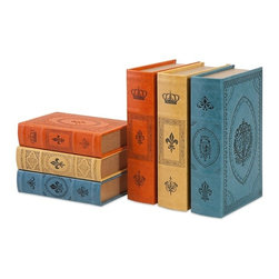 "Imax - Red Yellow Blue Potter Book Boxes - Set of 6 - *Dimensions: 2-3""h x 5.25-7.25""w x 8.5-10.75"""