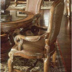 AICO Furniture - Tuscano Arm Chair in Biscotti - 34004 - Biscotti finish