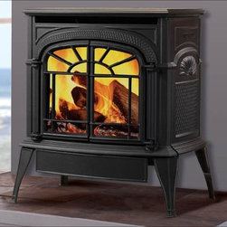 Vermont Castings Intrepid INDVR Series 22'' x 24'' DV Gas Stove - Smaller in size but rich in cast iron detail, the Intrepid® direct vent stove delivers convenient gas heating that's perfect for smaller spaces.