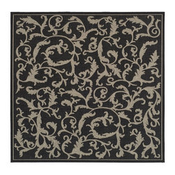 Safavieh - Safavieh Courtyard Country and Floral Rug X-QS8-8093-3562YC - Safavieh takes classic beauty outside of the home with the launch of their Courtyard Collection. Made in Belgium with enhanced polypropylene for extra durability, these rugs are suitable for anywhere inside or outside of the house. To achieve more intricate and elaborate details in the designs, Safavieh used a specially-developed sisal weave.