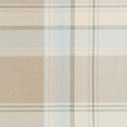 Plaid/Check - Mist Upholstery Fabric - Item #1011258-209.