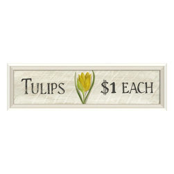 The Artwork Factory - Tulips $1 Each Framed Artwork - Give your home the fresh feeling of a flower shop with this vintage inspired quality print. Hanging this elegantly wood framed artwork will give your decor an unfussy country feel you'll adore.