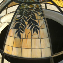 Steel dome with stained glass - Forja Designs