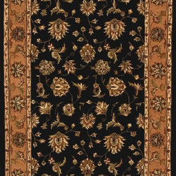Dynamic Rugs - Dynamic Rugs Jewel 70231-92 (Black, Camel) 5' x 8' Rug - The Jewel collection is all about beauty and color of classic persian rug designs. Jewel features the use of a hard twist woll pile in a pulled-down construction as a backdrop for floral motifs of artsilk. The use of these combined textures in today's color shades creates a rich backdrop for the transitional interior fashion look with a sharper edge... and as with any good fashion element, Jewel's up-scale transitional look is flexible. Jewel can work as the color foundation for shaggy chic interiors...or as the finishing touch of dreeier transitional interiors.
