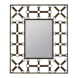 "Cooper Classics - Windfall Aged Rusted Brown Rectabgular Mirror - Add a unique touch to your d�cor with the handsome windfall mirror.  This lovely wall mirror boasts an aged rusted brown finish that will compliment any d�cor. Frame Dimensions: 31.5""W X 37.5""H; Mirror Dimensions: 14.5""W X 20.5""H; Finish: Aged Rusted Brown; Material: Metal; Beveled: No; Shape: Rectangular; Weight: 19 lbs; Included: Brackets, Ready to Hang Vertically or Horizontally"