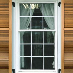 Unequal Panel Cedar Louvered Exterior Shutters - Promote your best curb appeal with exterior plantation shutters to enhance the overall beauty of your antiquated home. Handcrafted from Cedar and sanded to a smooth shine, these shutters can be shipped as-is for an unfinished appearance that adds a vintage flair to your home decor. Or you can opt for a stained tone to complement and match the theme of your house. You can also choose to have these primed for painting - which means you could paint them yourself. Either way - these exterior plantation shutters lend the best curb appeal to your residence through natural beauty and unsurpassed elegance.