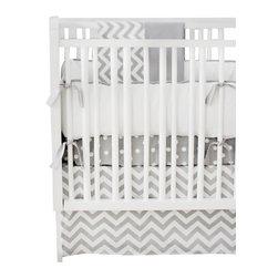New Arrivals Inc. - Gray Chevron Zig Zag Crib Bedding Set 2-Piece by New Arrivals Inc. - The Zig Zag Baby Crib Bedding Set by New Arrivals Inc, along with the Zig Zag bedding accessories.