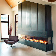 modern fireplaces by Anthony Concrete Design