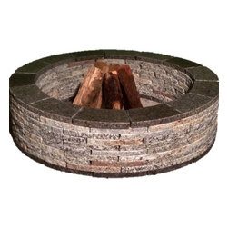 Greenstone - Granite Fire Pit - Greenstone Granite Fire Pits are the perfect addition to your outdoor living space. The calm, warm feeling of a fire pit will create the perfect setting for your family gatherings and entertainment all year round.