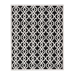 "Frontgate - Chloe Outdoor Area Rug - Available in three sizes and five colors. Adds warmth underfoot in cooler temperatures and relief from hot surfaces in summer. Resistant to mold, mildew, driving rain and heavy foot traffic. Hand-tufted of 100% fine-spun polypropylene for strength and enduring beauty. .25"" thick. With our Chloe Outdoor Rug, a soft, raised geo print pops sharply off your chosen base color, of which five choices are available, to make a dramatic design statement. Hand-tufted of extremely weather-resistant polypropylene for lasting comfort, it elegantly anchors your outdoor look.  .  .  .  .  . For outdoor or indoor use . Rug pad (sold separately) can provide additional cushioning and increased water drainage . Hose clean and allow to dry in the sun; use mild soap for hard-to-remove stains . Imported."