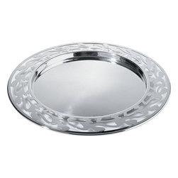 """Alessi - Alessi """"Ethno"""" Placemat - This is a round placemat with open-work edge in 18/10 stainless steel mirror polish."""