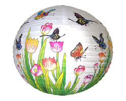 Oriental-Decor - Butterfly Lantern - Paper lanterns can make your party look more elegant. Use them instead of balloons for a more sophisticated touch. Cluster three of these in a corner and add lights for a warm, inviting accent.