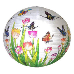 Oriental-Décor - Butterfly Lantern - Paper lanterns can make your party look more elegant. Use them instead of balloons for a more sophisticated touch. Cluster three of these in a corner and add lights for a warm, inviting accent.