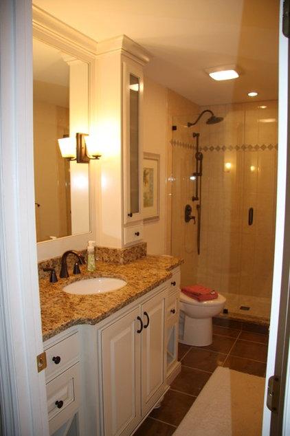 Traditional Bathroom by Terri Bennett - Periwinkle Interiors, LLC