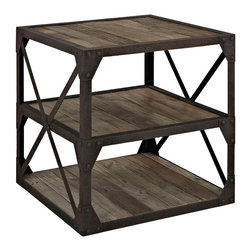 Ahoy Stand - Straight from the captain's quarters, this stand combines mariner style and rustic charm. Use it as a bedside table or mini bookcase, or store kitchen goods on its open shelves.