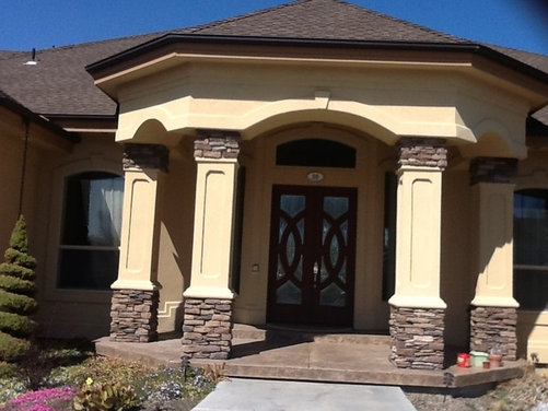 Front door trim garage door paint and accent ideas - Garage door painting ideas ...