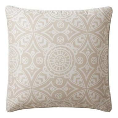 Serena & Lily - Ventura Euro Sham - Breezy and crisp, Ventura has quintessential beach-house appeal. The fresh palette and fabulous medallion print make for a dynamic neutral that looks amazing paired with color or just pure white.