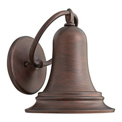 "Hinkley - Traditional Hinkley Liberty 10 1/2"" High Bronze Outdoor Wall Light - You'll treasure this outdoor wall light that is inspired by the Liberty Bell. Beautifully spun bell shape lantern and round wall plate constructed of solid brass are connected by a large decorative ring. Rich Victorian Bronze finish gives it a classic traditional tone. This Dark Sky compliant wall fixture is from the Liberty Collection by Hinkley Lighting. Solid brass outdoor wall light. Victorian Bronze finish. Takes one maximum 100 watt bulb (not included). 10 1/2"" high. 9"" wide. Extends 10 1/4"" from the wall. Wall plate is 6 1/4"" wide. Mounting point to top of fixture is 5 1/2"". Dark Sky compliant.  Solid brass outdoor wall light.   Victorian Bronze finish.   Takes one maximum 100 watt bulb (not included).   10 1/2"" high.   9"" wide.   Extends 10 1/4"" from the wall.   Wall plate is 6 1/4"" wide.   Mounting point to top of fixture is 5 1/2"".   Dark Sky compliant."