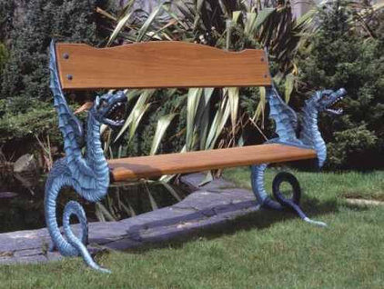Eclectic Outdoor Benches by Lost Art