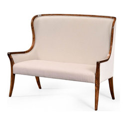 Jonathan Charles - New Jonathan Charles Loveseat Walnut Windsor - Product Details