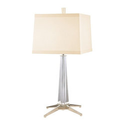 Hudson Valley Lighting - Hudson Valley Lighting L387-PN Table Lamp in Polished Nickel - Hudson Valley Lighting L387-PN Hindeman Collection Modern Table Lamp in Polished Nickel