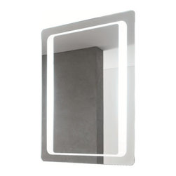 """Vanita & Casa by Nameeks - Fluorescent Lighted Vanity Mirror - Features: -Vanity mirror. -Includes on / off switch. -Safety PVC film. -Modern rectangular design. -Wall mounted. -Direct wire. -UL certified. Specifications: -Accommodates: T9-40 W Lamp, 110V Fluorescent. -Dimensions: 31.5"""" H x 23.6"""" W x 1.77"""" D."""
