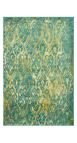 """Loloi Rugs - Loloi Rugs Madeline Collection, Lagoon, 3'-9""""x5'-2"""" - Distinguished by its unprecedented watercolor design, the Madeline Collection features a series of gorgeous, show-stopping rugs at an unbeatable price. Power-loomed of 100% polypropylene in Egypt, Madeline's color space-dyeing technique gradates the bold and vibrant colors throughout the rug to create a stunning rendition of popular watercolor paintings."""