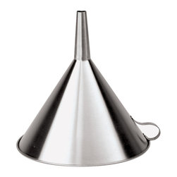 Paderno World Cuisine - 11-7/8-in. Diameter Stainless Steel Funnel - This Paderno World Cuisine 11-7/8-in. diameter stainless steel funnel comes with a hanging hook.