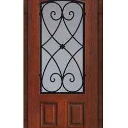 """Single Door 80 Fiberglass Charleston 2 Panel Arch Lite Wrought Iron - SKU#MCT06WCHBrandGlassCraftDoor TypeExteriorManufacturer CollectionArch Lite Entry DoorsDoor ModelCharlestonDoor MaterialFiberglassWoodgrainVeneerPrice1295Door Size Options  +$percent  +$percentCore TypeDoor StyleDoor Lite StyleArch LiteDoor Panel Style2 PanelHome Style MatchingDoor ConstructionPrehanging OptionsSlab , Prehung , ImpactPrehung ConfigurationSingle DoorDoor Thickness (Inches)1.75Glass Thickness (Inches)Glass TypeDouble GlazedGlass CamingGlass FeaturesTempered glassGlass StyleGlass TextureClear , rain , FlutedGlass ObscurityNo Obscurity , Highest Obscurity , High ObscurityDoor FeaturesDoor ApprovalsTCEQ , Wind-load Rated , AMD , NFRC-IG , IRC , NFRC-Safety GlassDoor FinishesDoor AccessoriesWeight (lbs)248Crating Size25"""" (w)x 108"""" (l)x 52"""" (h)Lead TimeSlab Doors: 7 Business DaysPrehung:14 Business DaysPrefinished, PreHung:21 Business DaysWarrantyFive (5) years limited warranty for the Fiberglass FinishThree (3) years limited warranty for MasterGrain Door Panel"""
