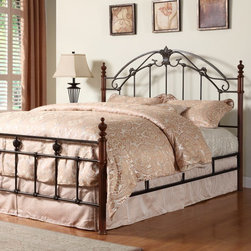 Homelegance - Ashville Bed Multicolor - HME1686 - Shop for Beds from Hayneedle.com! The Ashville Bed has a simple elegant design that makes it a beautiful centerpiece for any bedroom. The wooden posts are finished in a rich cherry while the metal headboard and footboard are finished in cast iron.Dimensions:Full Bed: 77L x 55.75W x 53.5H inchesQueen Bed: 82L x 61.75W x 53.5H inchesKing Bed: 82L x 82.25W x 53.5H inchesAbout Homelegance Inc.Homelegance takes pride in offering only the highest quality home furnishings that incorporate innovative design at the best value. From dining sets to mirrors sofas and accessories Homelegance strives to provide customers with a wide breadth and depth of selection as well as the most complete and satisfying service available for their category. Homelegance distribution centers are conveniently located throughout the United States and Canada.